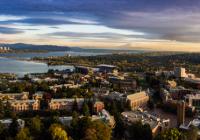 Aerial photo of the UW's Seattle campus