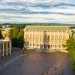 Campus image photo of Red Square shot from a drone.